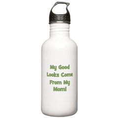 Good Looks from Mom - Green Water Bottle
