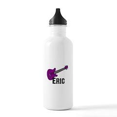Guitar - Eric - Purple Water Bottle