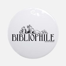 Bibliophile: Little Girl Read Ornament (Round)