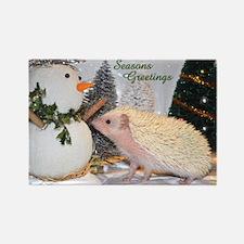 Hedgehog Casper Seasonal Coll Rectangle Magnet