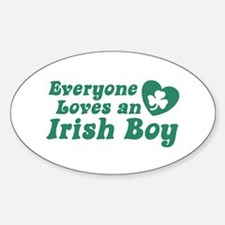 Everyone loves an Irish Boy Oval Decal