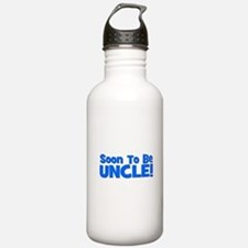 Soon To Be Uncle! Blue Water Bottle
