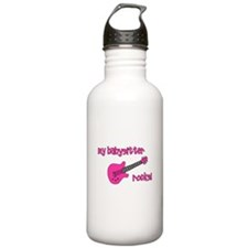 My Babysitter Rocks! pink gui Water Bottle