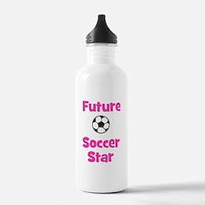 Future Soccer Star (pink) Water Bottle