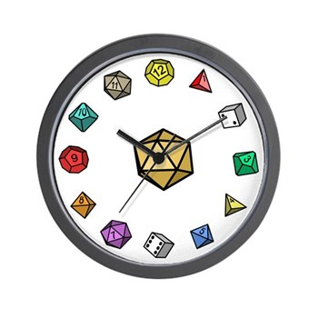 RPG Dice Wall Clock