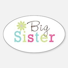 Big Sister Flower Sticker (Oval)