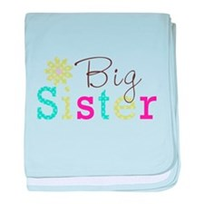 Big Sister Flower baby blanket