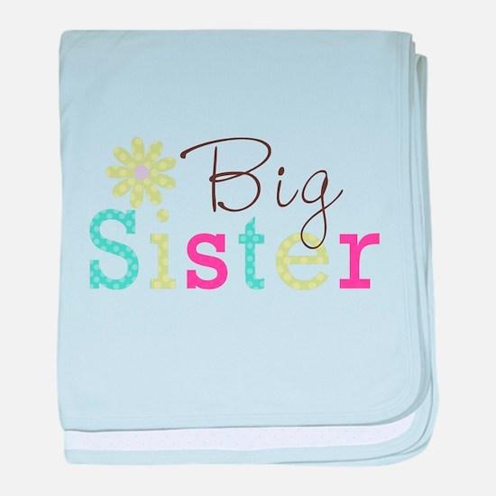 Big Sister Flower baby blanket