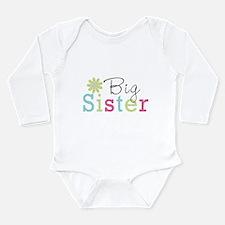Big Sister Flower Long Sleeve Infant Bodysuit