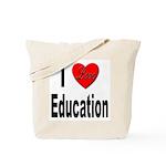 I Love Education Tote Bag