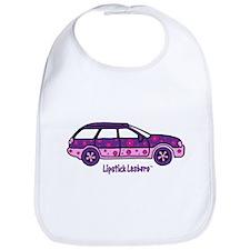 Lipstick Lesbaru Car and Logo Bib
