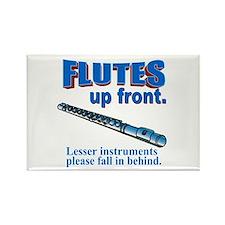 Flutes Up Front Rectangle Magnet