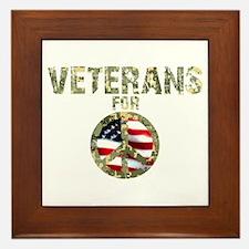 Veterans For Peace Sign Framed Tile