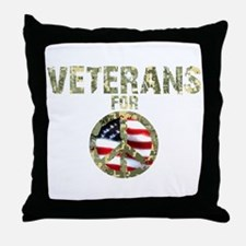 Veterans For Peace Sign Throw Pillow