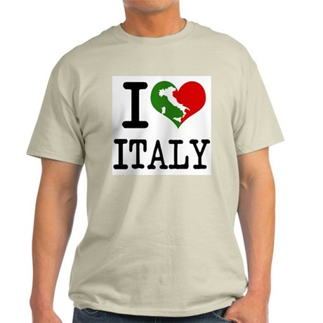Ash Grey I Love Italy T-Shirt