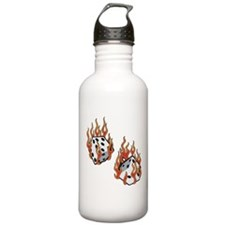 Flaming Dice Water Bottle