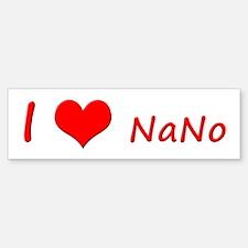 I Heart NaNo Bumper Bumper Sticker