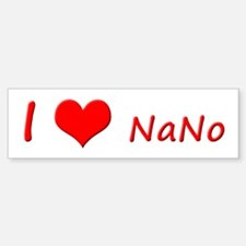 I Heart NaNo Car Car Sticker
