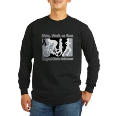 Melanoma RideWalkRun Long Sleeve Dark T-Shirt
