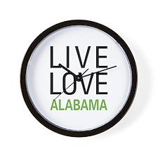 Live Love Alabama Wall Clock