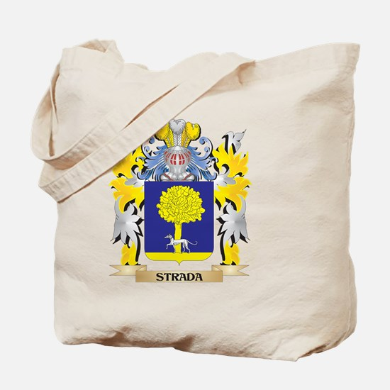 Strada Family Crest - Coat of Arms Tote Bag