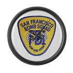 FBI EOD San Francisco Large Wall Clock
