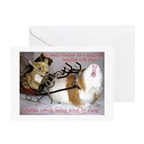 Guinea pig christmas Greeting Cards