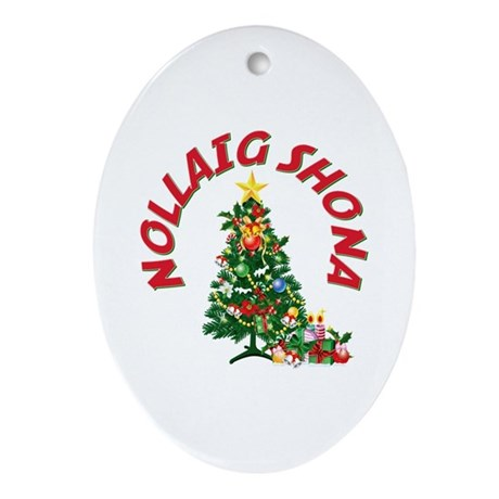 Irish Christmas Oval Ornament