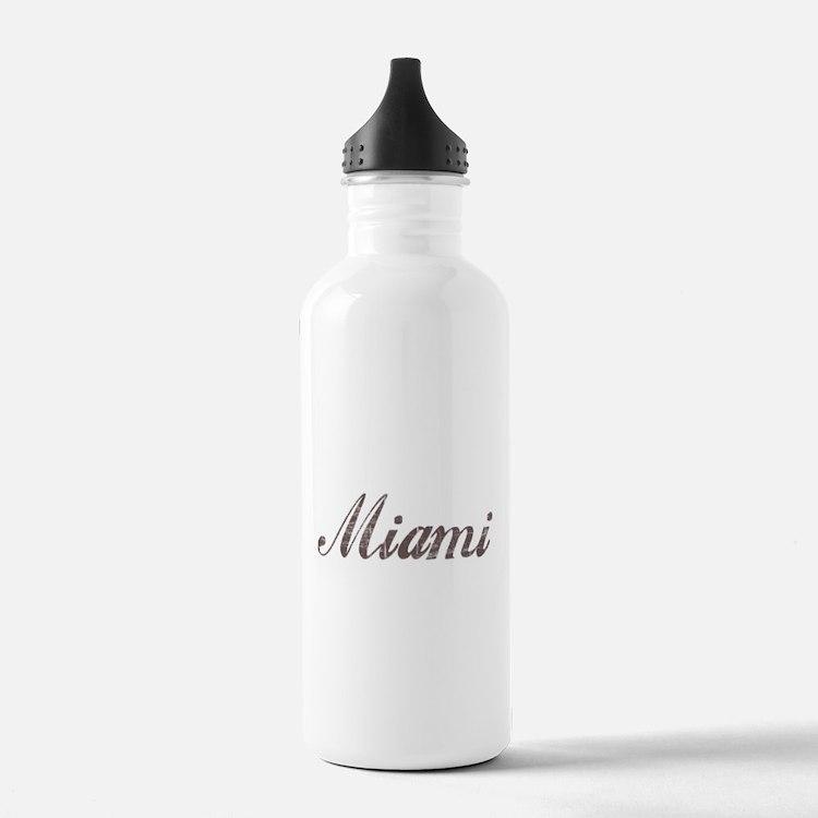 Vintage Miami Water Bottle