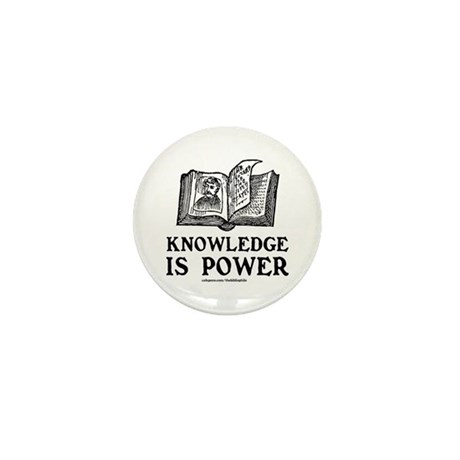 Knowledge Is Power Mini Button (10 pack)