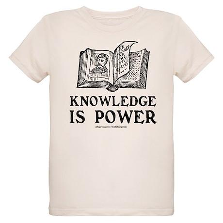 Knowledge Is Power Organic Kids T-Shirt