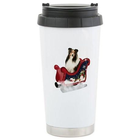 Magic Sleigh Sheltie Stainless Steel Travel Mug