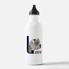 English Bulldog Love Water Bottle