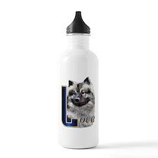 Keeshond Love Water Bottle