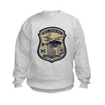 Delaware State Police Aviatio Kids Sweatshirt