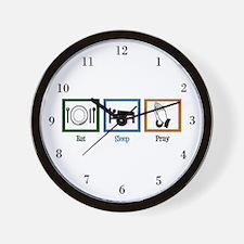 Eat Sleep Pray Wall Clock
