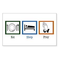 Eat Sleep Pray Decal