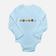 Cute Hoot Long Sleeve Infant Bodysuit