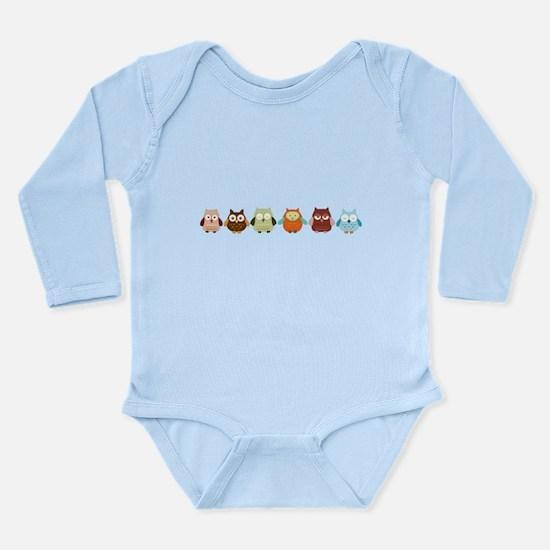 Cute Hoot Long Sleeve Infant Bodysuit
