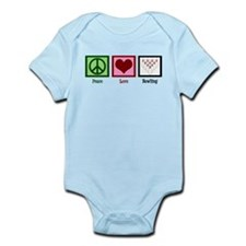 Peace Love Bowling Infant Bodysuit