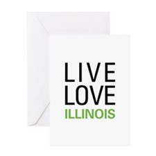 Live Love Illinois Greeting Card
