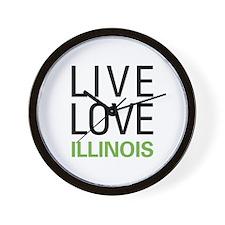 Live Love Illinois Wall Clock
