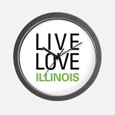 Live Love Illinois Wall Clock