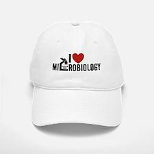 I Love Microbiology Baseball Baseball Cap