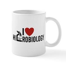 I Love Microbiology Small Mugs