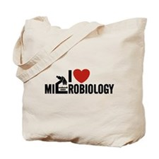 I Love Microbiology Tote Bag