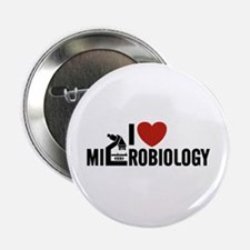 "I Love Microbiology 2.25"" Button"