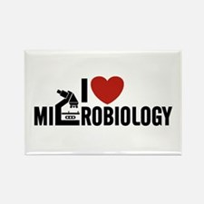 I Love Microbiology Rectangle Magnet