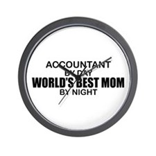 World's Best Mom - Accountant Wall Clock