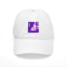 Pop Art Gray Long-haired Cat Baseball Cap